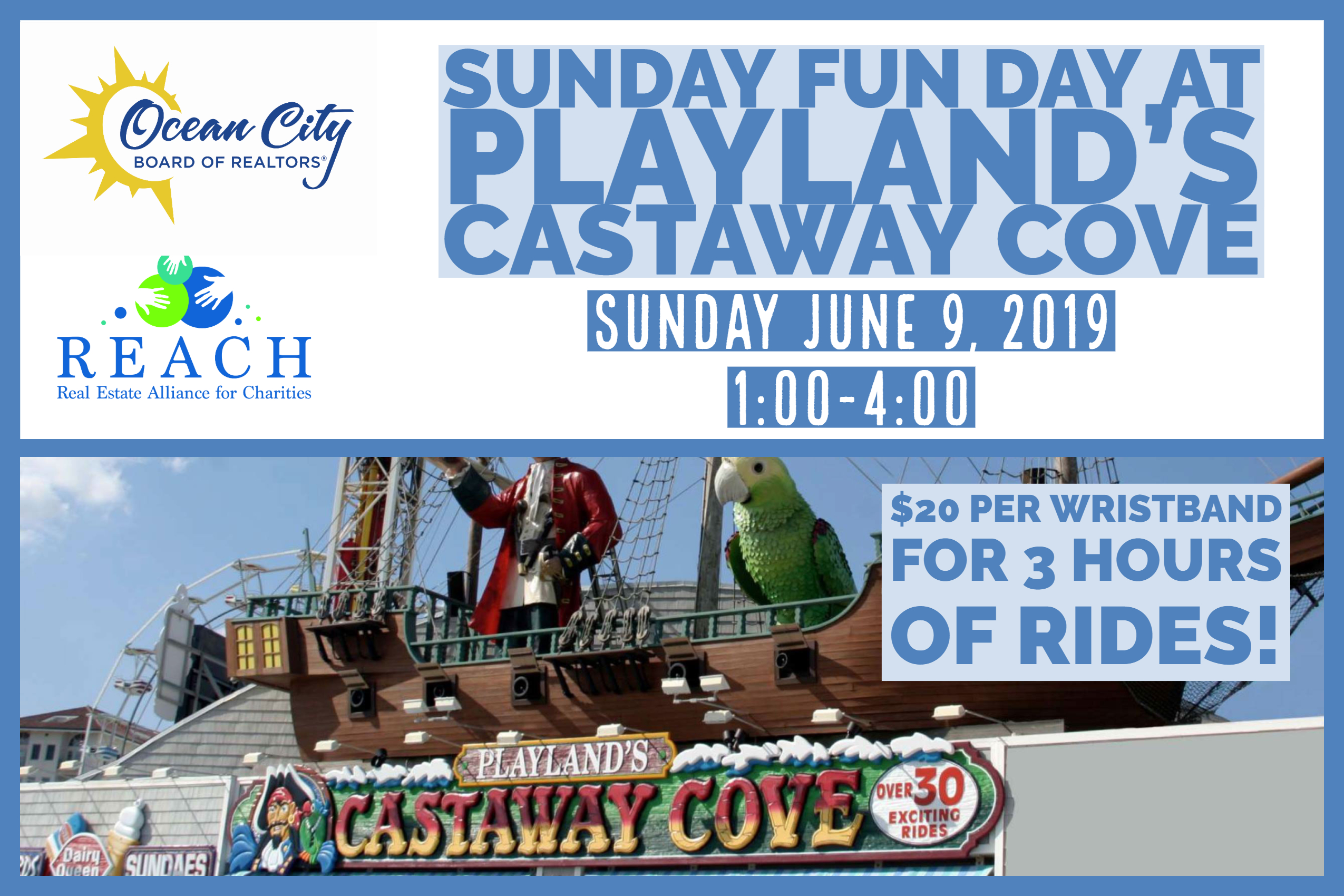 REACH OCNJ hosts Sunday Funday at Playlands castaway cove