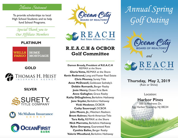 join the REACH OCNJ spring golf tournament 2019