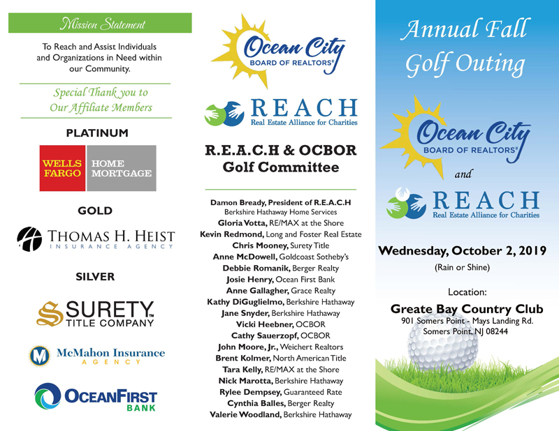 join the REACH OCNJ fall golf tournament 2019
